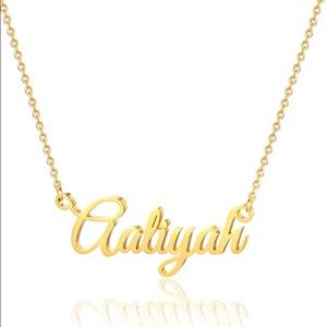 Aaliyah Name Necklace Gold